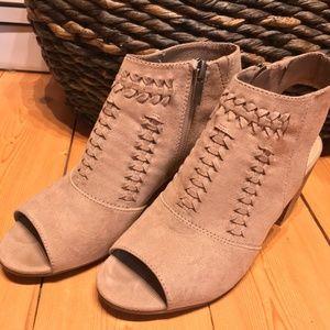 Francesca tan peep toe heel sandal 7